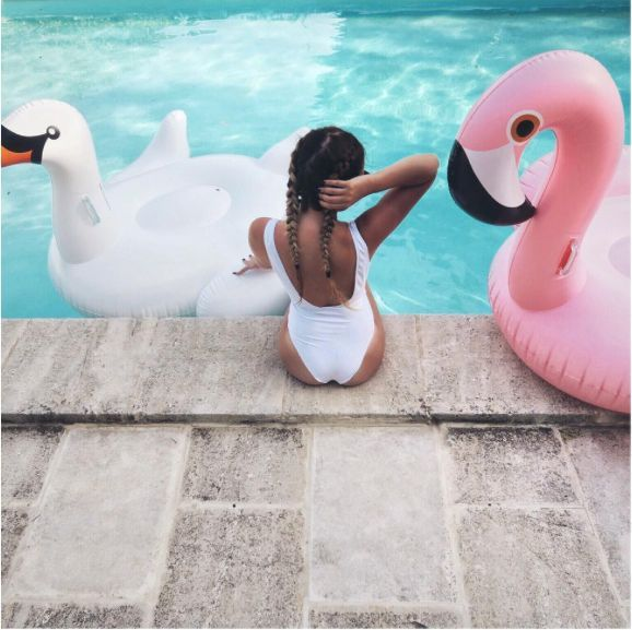Pool Vibes :: Flamingo Float :: Summer Vibes :: Friends :: Adventure :: Sun :: Poolside Fun :: Blue Water :: Paradise :: Bikinis :: See more Untamed Summertime Inspiration @untamedorganica