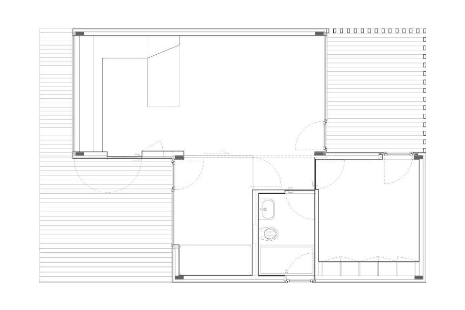 Treehouse Riga, une maison modulaire compact avec 2 chambres à - plan maison une chambre