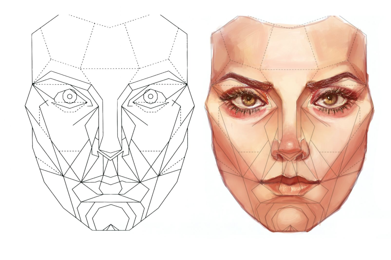 Golden Ratio Face Drawing