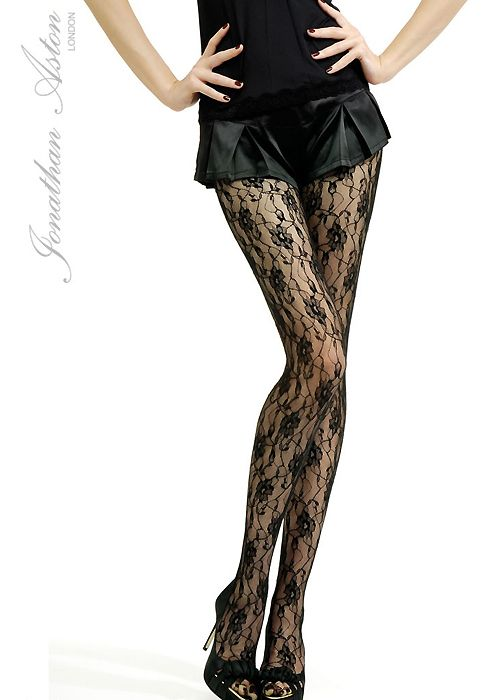 Jonathan Aston Vintage Legs Fishnet Tights *Various Colours* Retro Backseam S-L