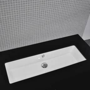 trough style bathroom sink vanities design element ...