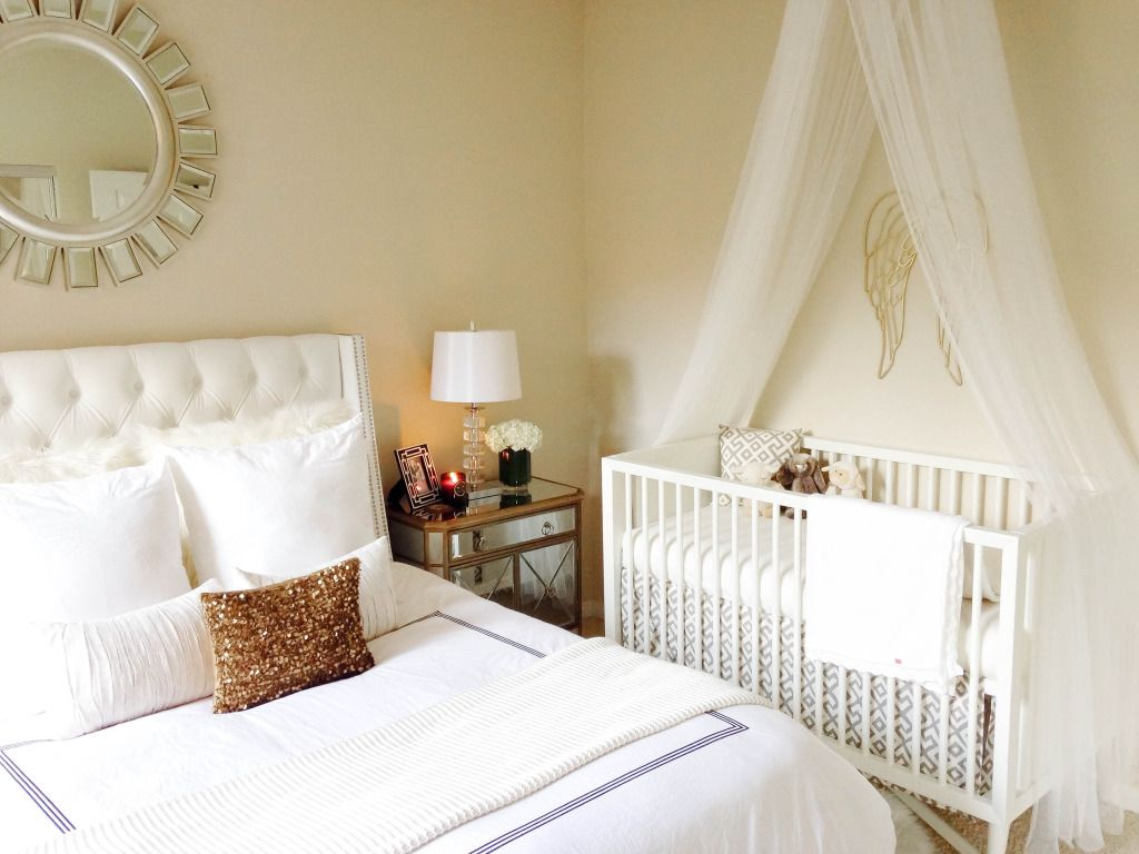 Master Bedroom Office Combo Design baby vienna's nursery tour & mamaroo giveaway | master bedroom