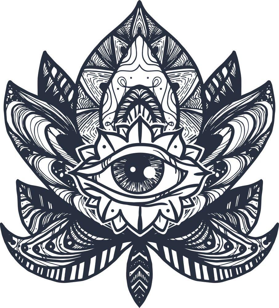 Eye Lotus Tattoo Free Vector Free tattoo, Pattern