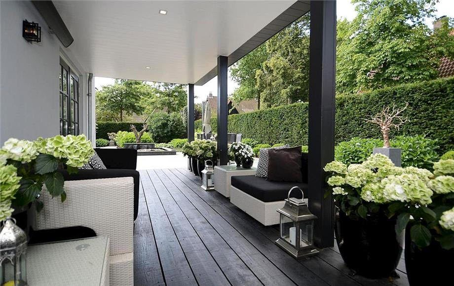Zwarte vlonders pinterest verandas gardens and patios