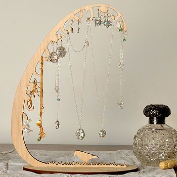 Jewellery Stand Designs : Woodland jewellery stand storage organiser display laser cut