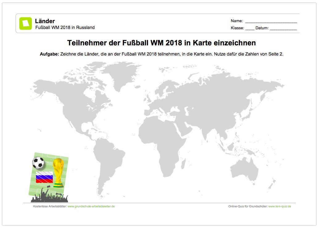NEU: Ein kostenloses Arbeitsblatt zur Fußball WM 2018 in Russland ...