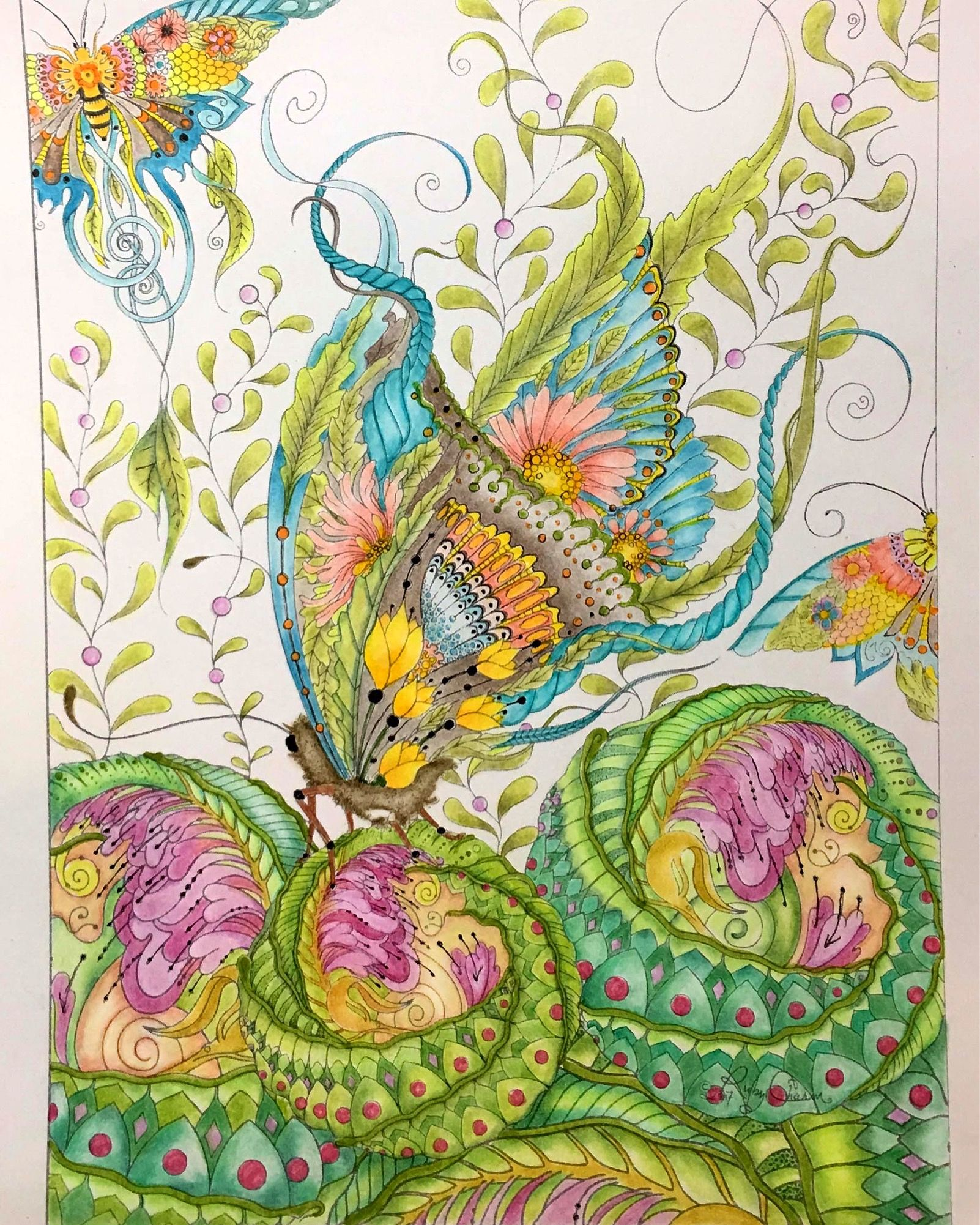 Pin by Penny Milner on Finished colouring pages | Pinterest | Artist ...