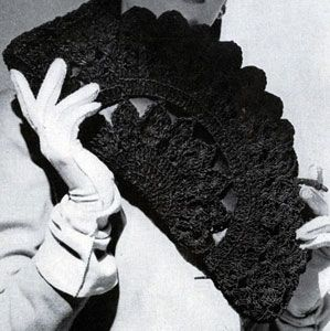 Cordet Bag No. 4822 crochet pattern from Handbags, originally published by Jack Frost Yarn Company, Volume No. 48, from 1945.