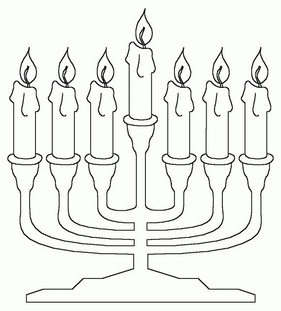 Hanukkah Coloring Pages- Menorahs_36 | all about Israel ...