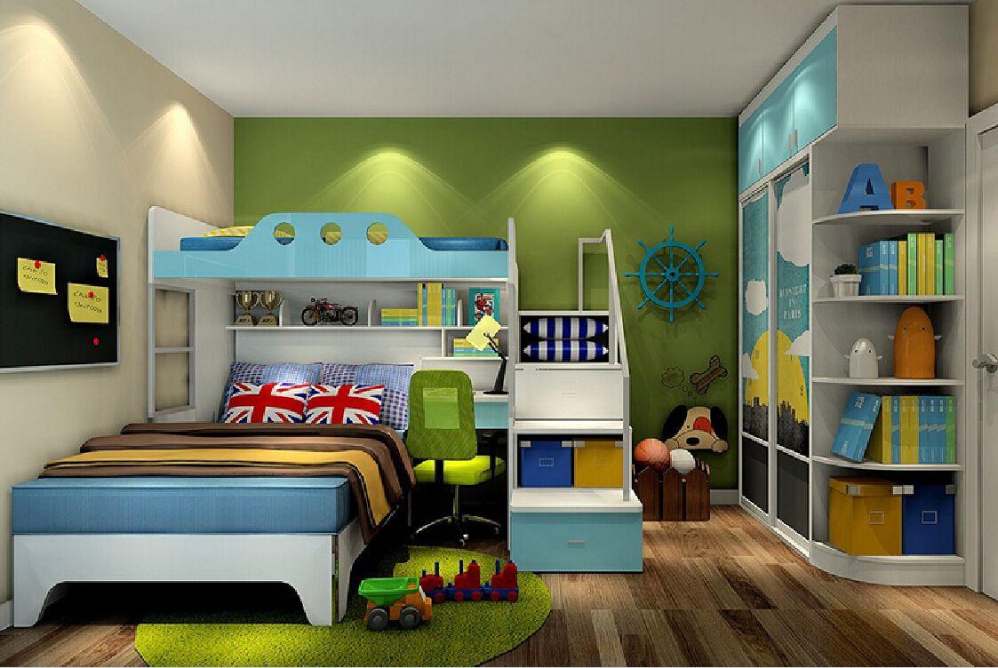 3d Green Wall Of Children S Bedroom Dormitorios Dormitorios Ninos Ninos