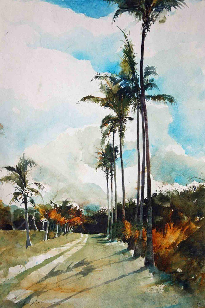 Watercolor artist magazine palm coast fl -  Bob Marley Jamaica His Cradle His Home Island His Yard Watercolor