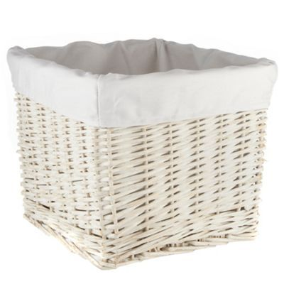 Jasper Conran White Lined Wicker Basket