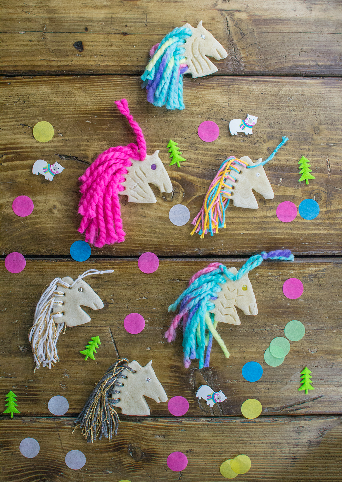 How To Make Rainbow Unicorn Salt Dough Ornaments Let S Do Something Crafty Dough Ornaments Salt Dough Decorations Salt Dough Christmas Ornaments