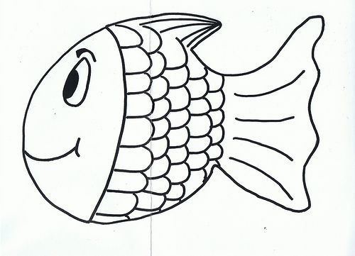 Fish Template  Rainbow Fish Stencil  MiaS Th Mermaid Themed