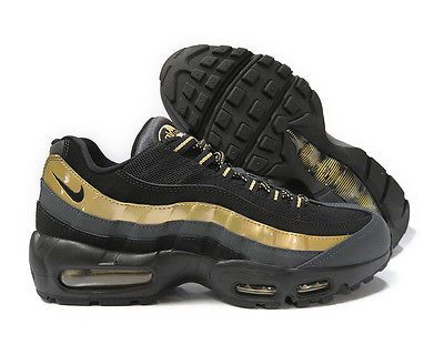 538416 007 Nike Air Max 95 Prm Black Gold Anthracite Mens