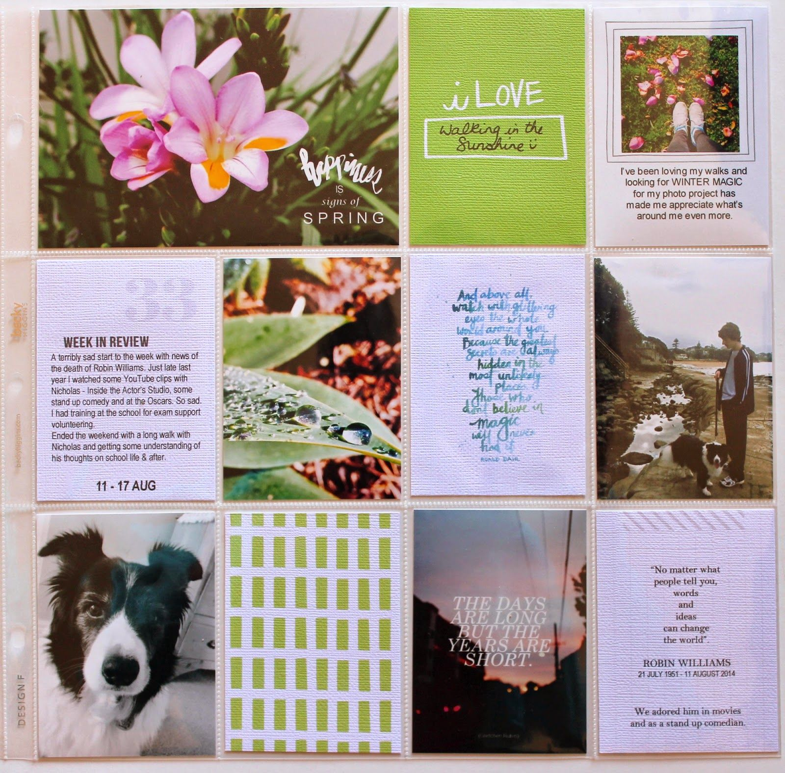 inspiration storyboard: Project Life | Aug pages