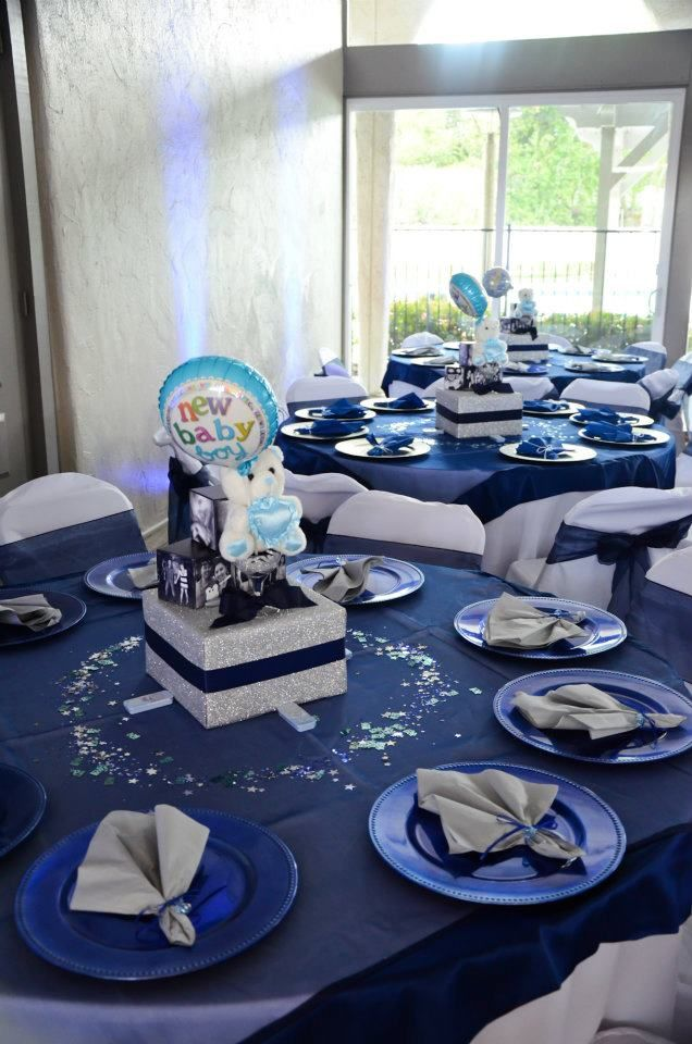 Midnight blue and silver themed baby shower midnight for 21st birthday decoration ideas for boys