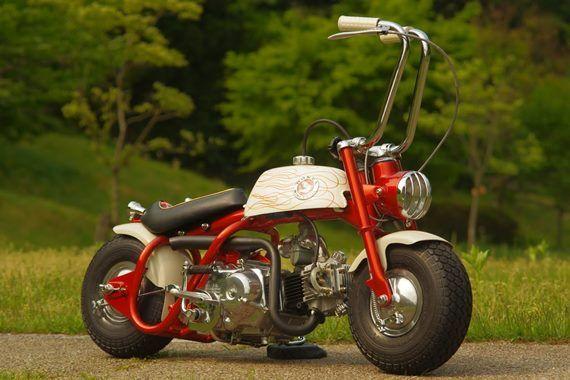 Vintage Scooter Mini Bike Toy Wagon Honda Bikes
