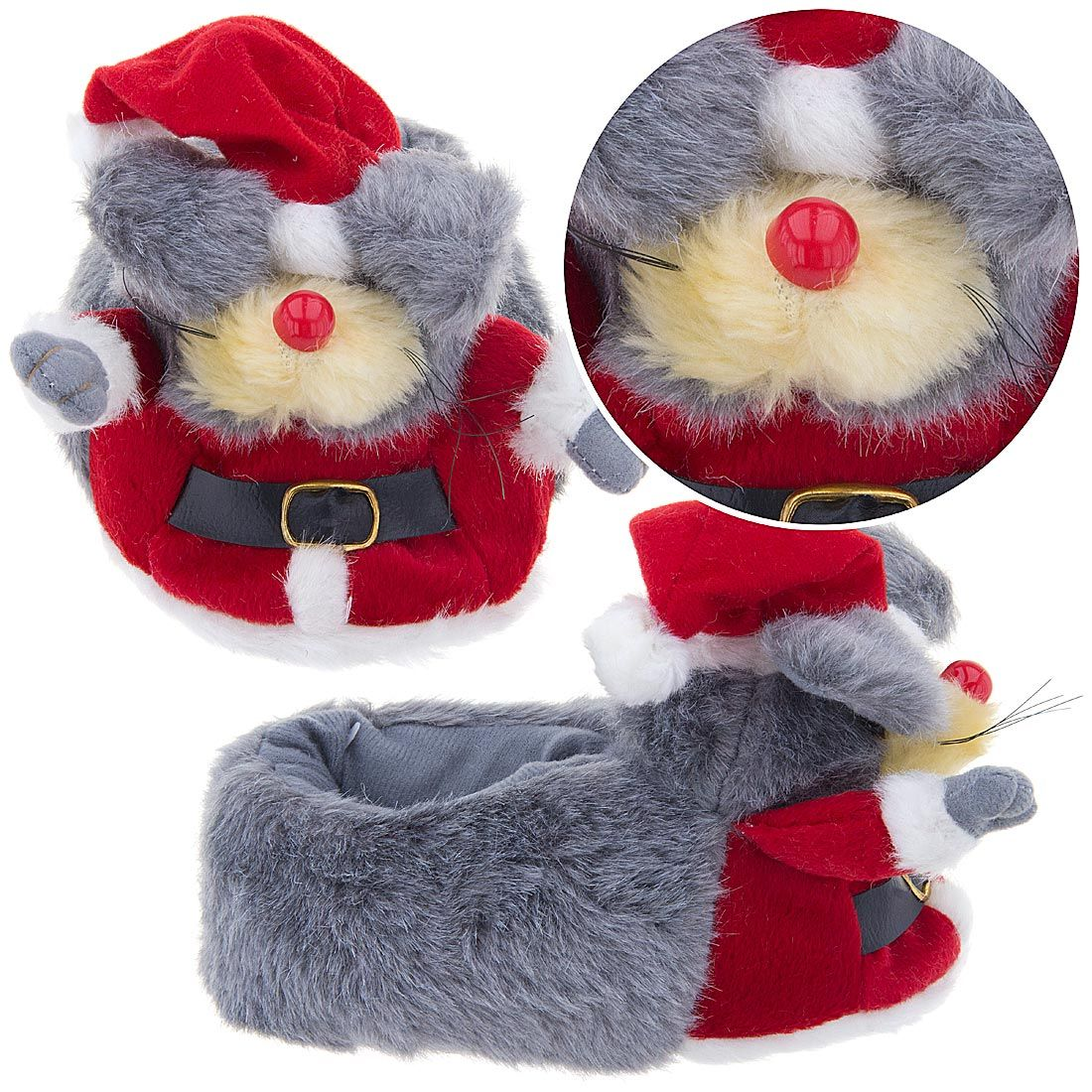 Santa Mouse Christmas Slippers for Kids are some of the most fun and ...