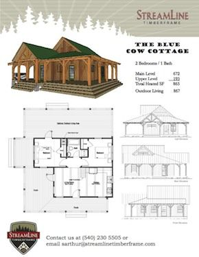 blue cow cottage 1 page flyer