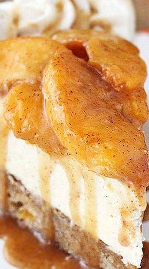 Peach Caramel Blondie Cheesecake | Best Cheesecake Recipe