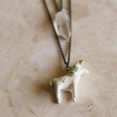 417263c7d7502 PRE-ORDER: Mystical Unicorn Necklace | little things | Unicorn ...