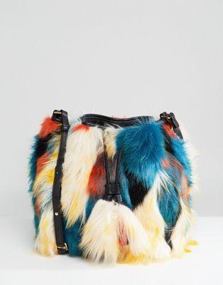 a51a844c618b UGG Lidiya Faux Fur Patchwork Bucket Bag | BAGS | Bags, Latest ...