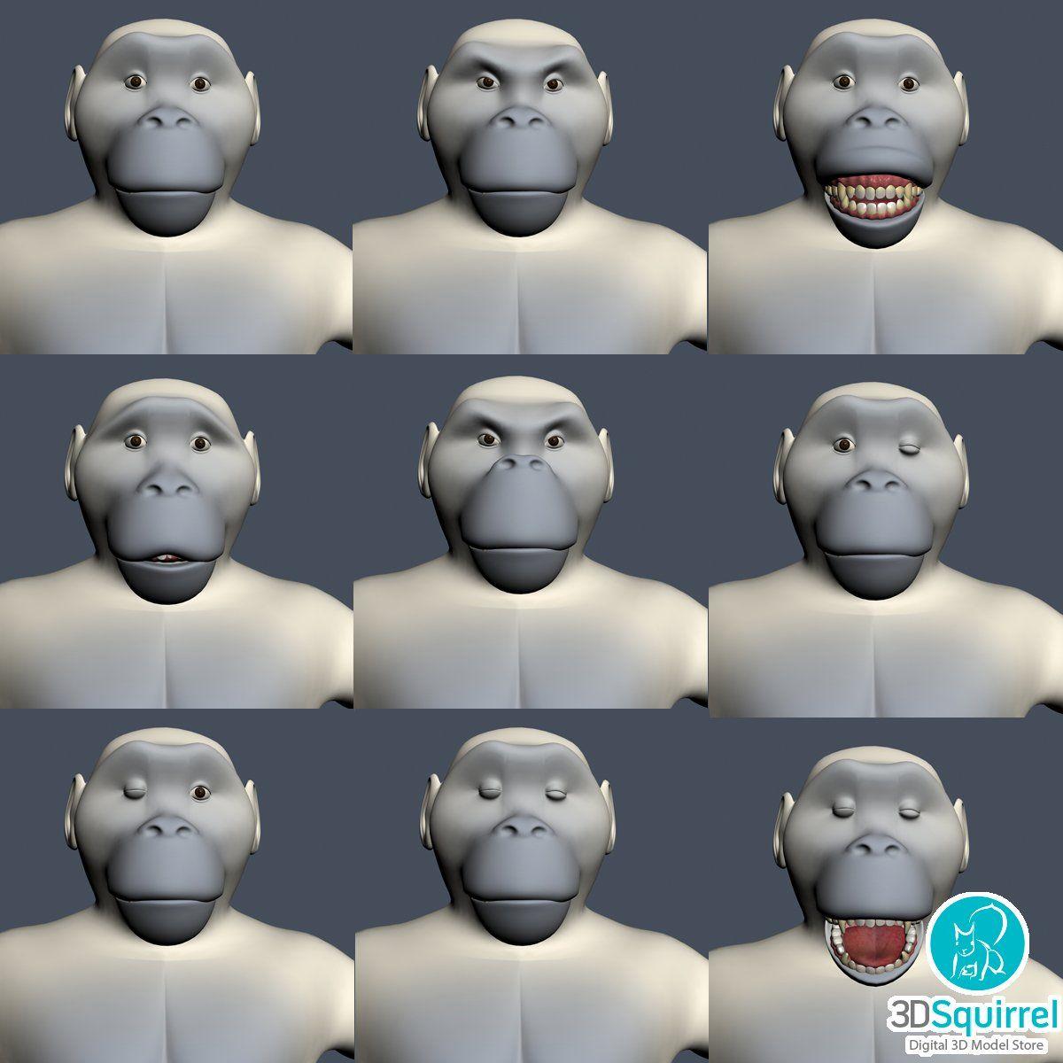 Yeti Character Rigged 3D Model fbx obj max 3ds   3DSquirrel