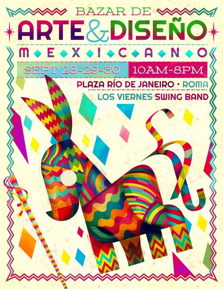 Póster de Bazar de Arte   Diseño Mexicano  f4c5f6c0a80