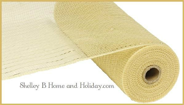 Deco Mesh Beige Champagne Color 10 Inch Roll 10 Yards Long Shelley B Home And Holiday Online Retailer Of Craig Bachm Mesh Ribbon Deco Mesh Ribbon Deco Mesh