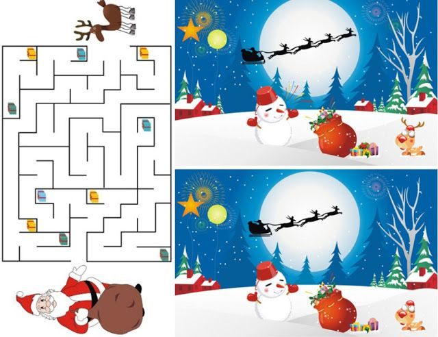 FREE Christmas Printable Activities For The Kids   Christmas in July ...