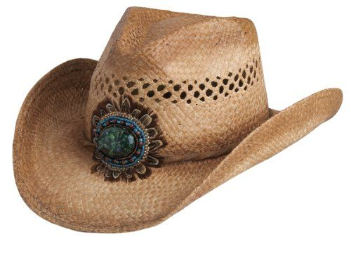 857ea39592f1d Conner Hats Women s Navajo Western Bead and Feather Raffia Hat ...