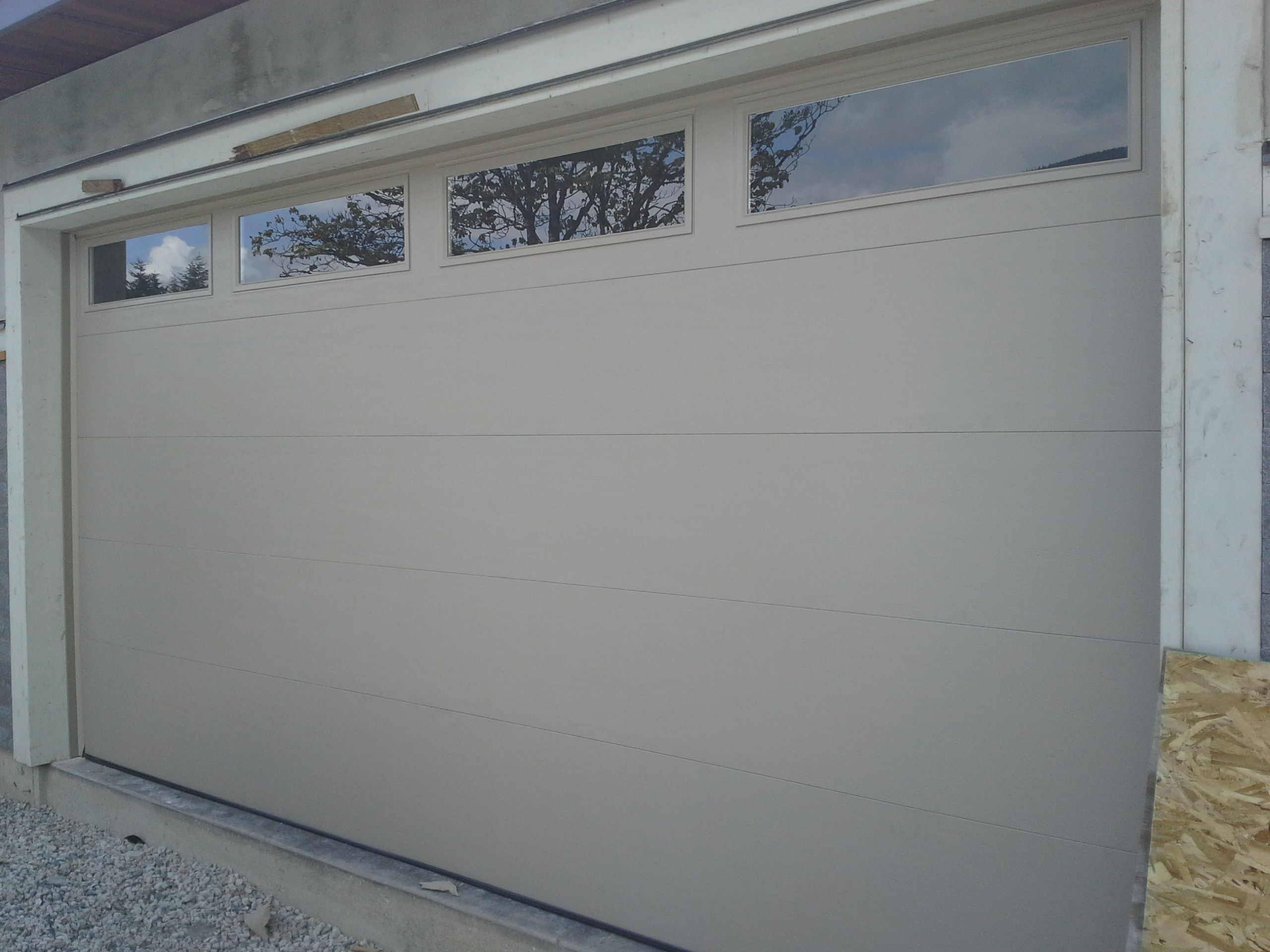 Northwest Doors T108 Flush Panel Garage Door West Vancouver Bc