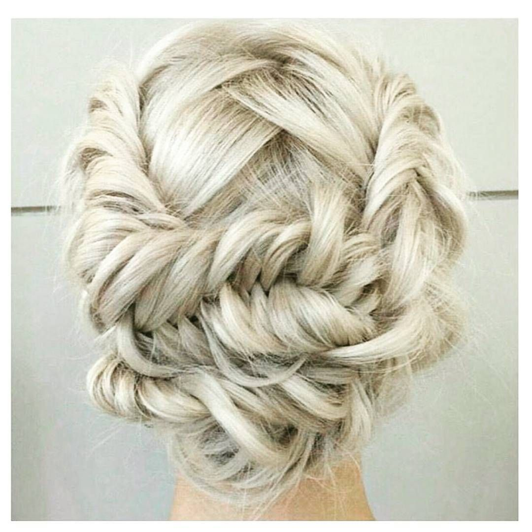 Festive updo for Christmas wedding Instagram photo by ...