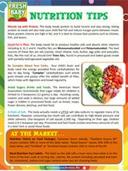 Learn more about the importance of nutrients, vitamins and minerals with the FREE Tip Sheet