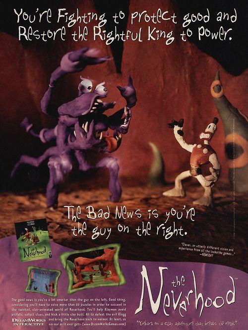 An advert for The Neverhood