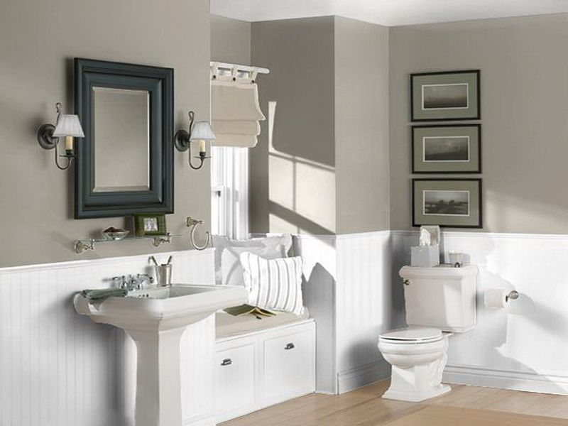 Images Of Bathrooms With Neutral Colors Neutral Bathroom Color Schemes White Grey Neutral Bathroom C Small Bathroom Colors Painting Bathroom Bathroom Colors