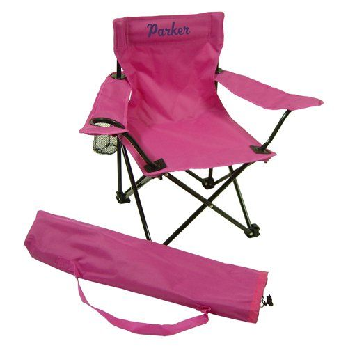 Ababy Personalized Pink Child Camping Chair Name Parker