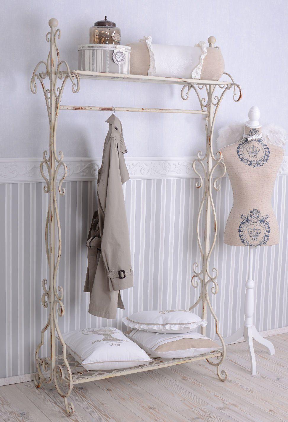 nostalgie garderobe shabby chic garderobenst nder weiss metallst nder k che. Black Bedroom Furniture Sets. Home Design Ideas
