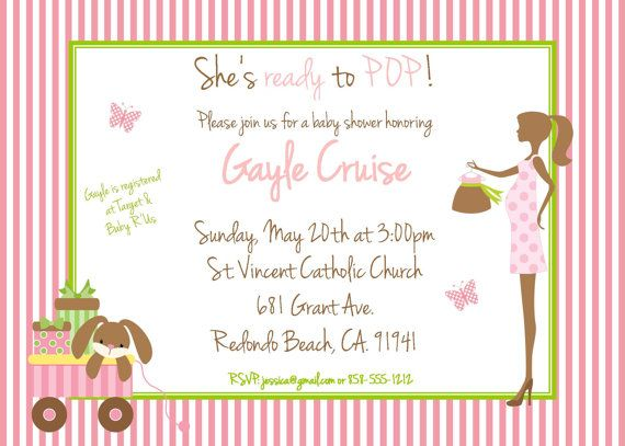 Ready To Pop Invitation Baby Shower Invitation Gender Reveal