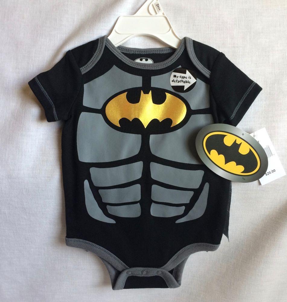 e7b9c60f1dba Batman One Piece Snapsuit Infant Size 3-6 Months Detachable Cape ...