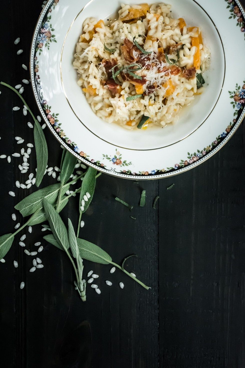 Butternut Squash Risotto with Sage and Crispy Pancetta