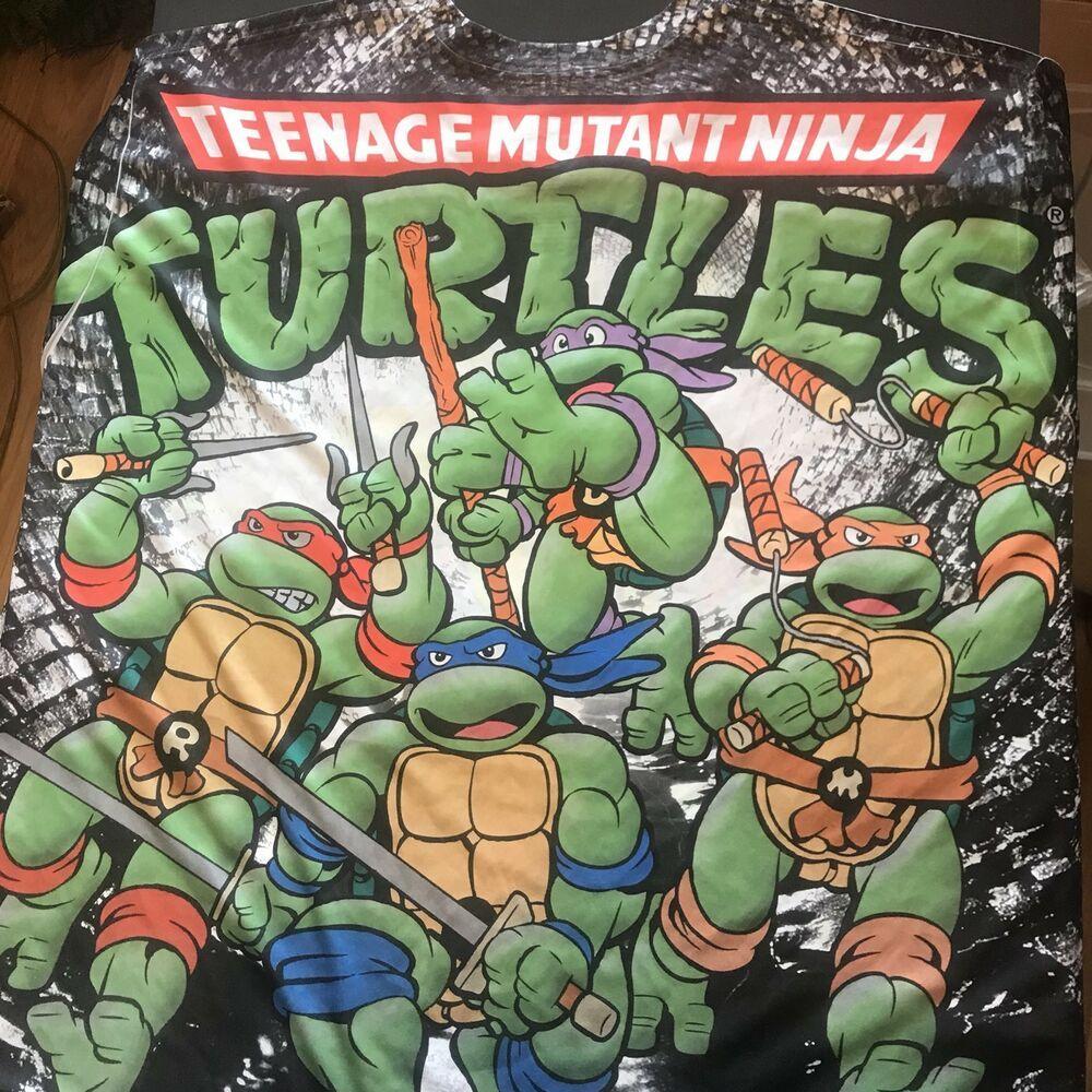 2020 Halloween Costumes Nickelodeon Teenage Mutant Ninja Turtles Nickelodeon Teenage Mutant Ninja Turtles Tee Shirt Sz XL TMNT