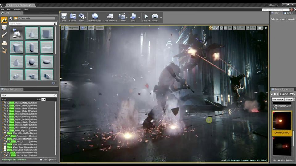 Unreal Engine 4 Visual Effects GPU Particles, Particles
