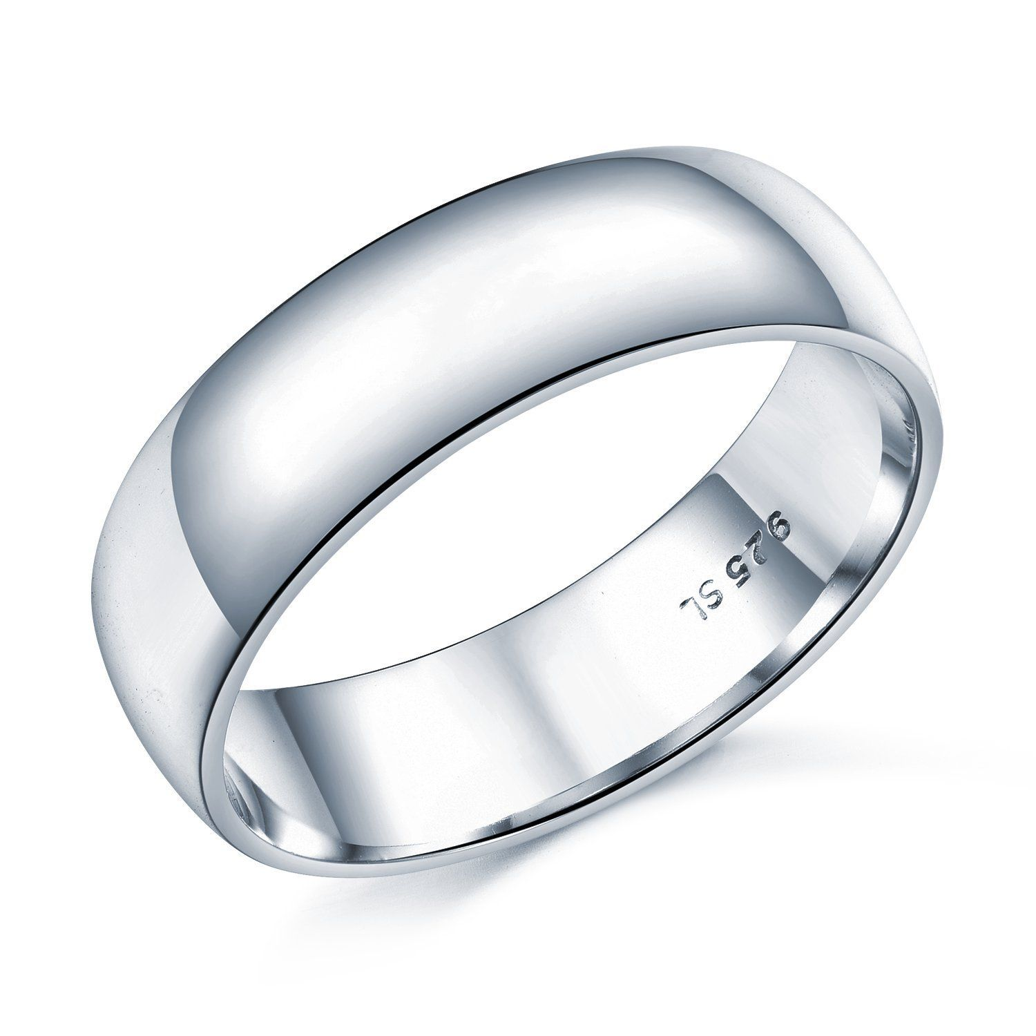 6mm D Shape Heavy Weight Sterling Silver Wedding Band Ring In Sizes Complete Wit Silver Wedding Bands Sterling Silver Wedding Band Wedding Ring Bands