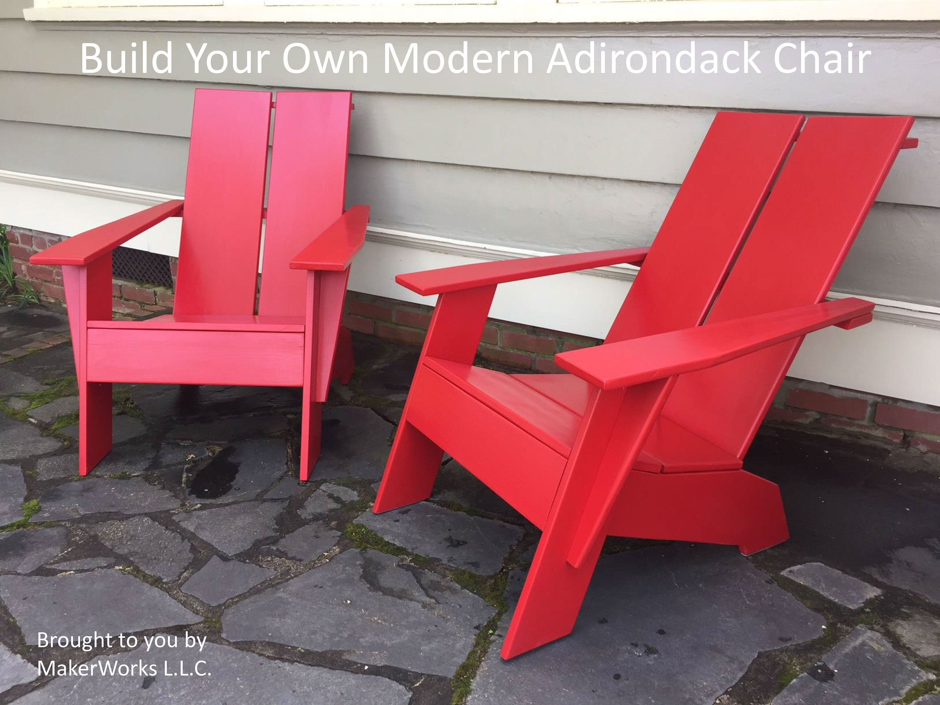 Build Your Own Modern Adirondack Chair Etsy in 2019