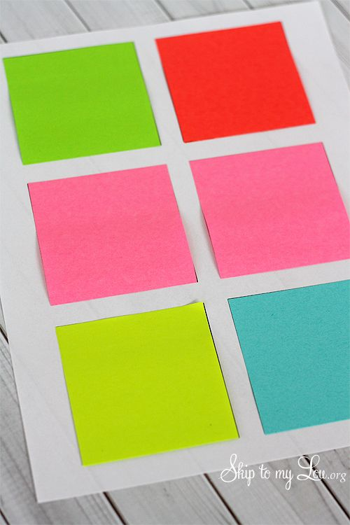 How to print on Post-it Notes {Clever Saying Gift Kids Pinterest