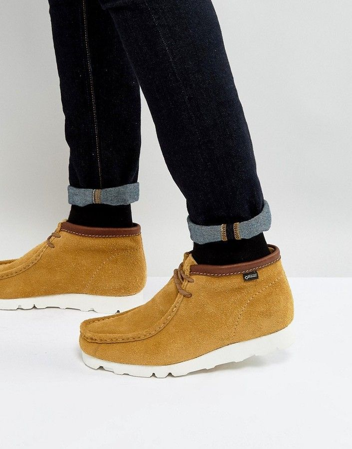 63ddfaf3cad01 Clarks Wallabee GTX Suede Boots | Products | Clarks originals, Shoes ...