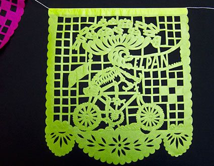MEXICAN DAY OF THE DEAD PAPEL PICADO BANNER INTRICATE HANDCUT DESIGN MEDIUM 15FT