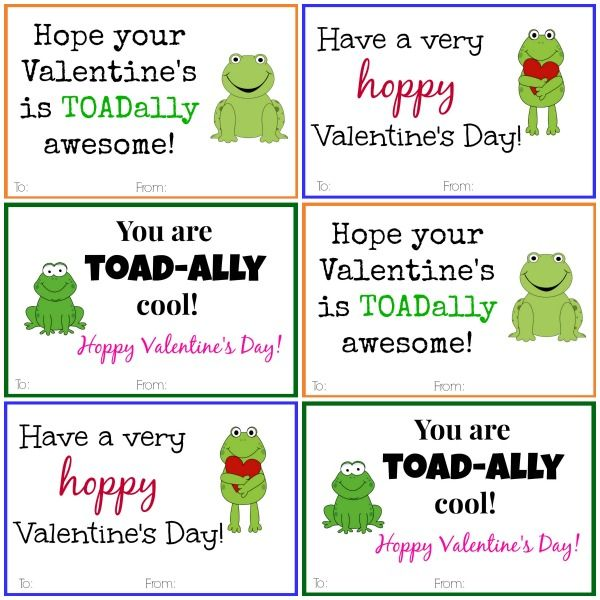 These Frog Valentine Cards are the perfect way to make some kids – Kids Printable Valentines Day Cards